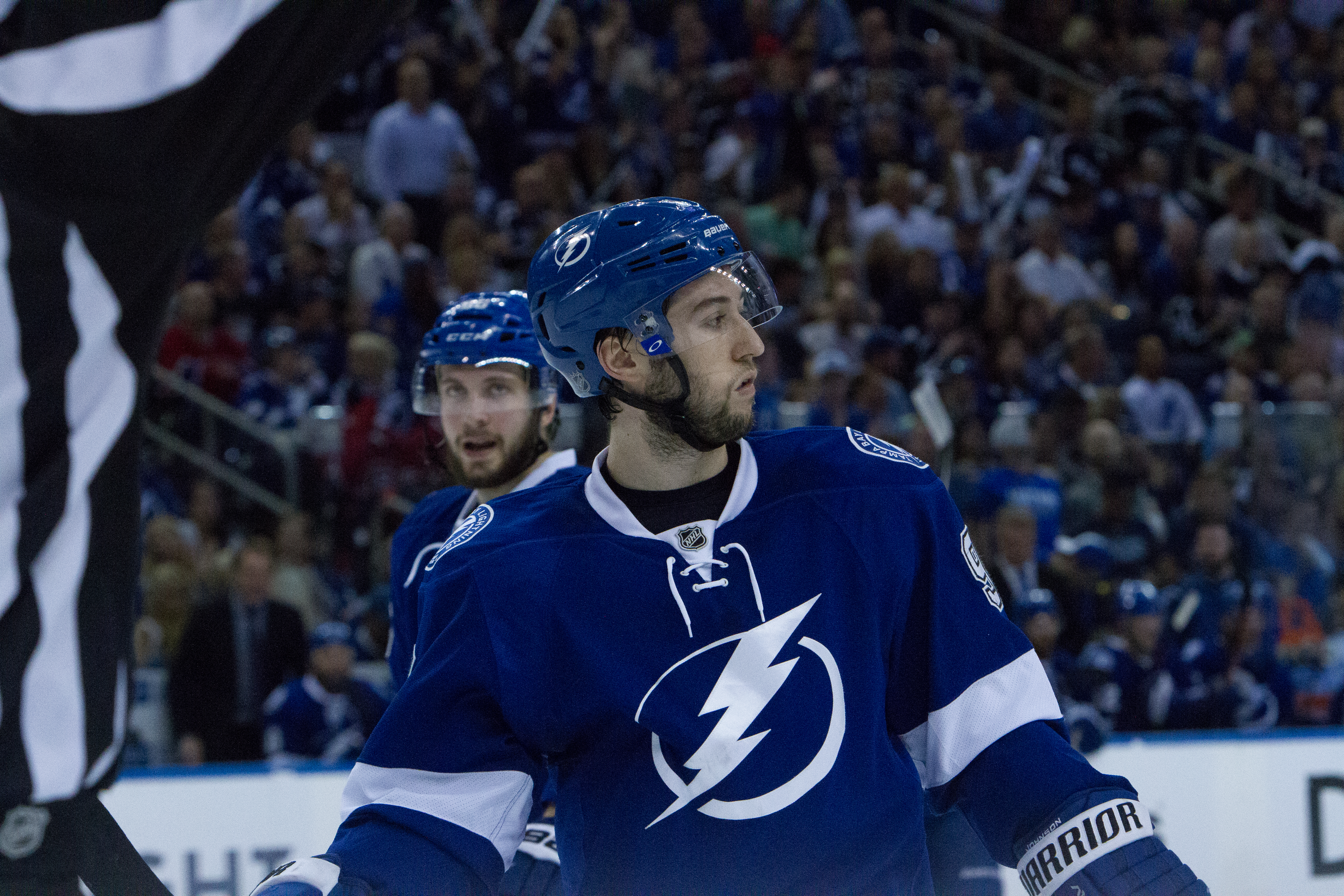 Johnson leads the Lightning to another playoff victory./ANDREW J. KRAMER