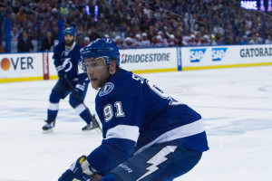 Stamkos and his teammates are 3-0 in Game Two in these playoffs./ANDREW J. KRAMER