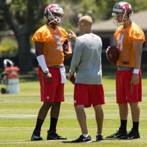 Bucs' quarterback coach Mike Bajakian must guide Winston./ANDREW J. KRAMER