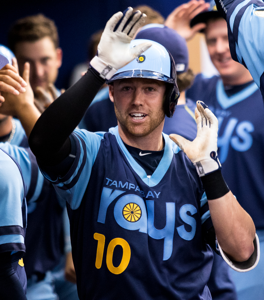 Elmore got the Rays off a 2-0 lead with his homer./ANDREW J. KRAMER
