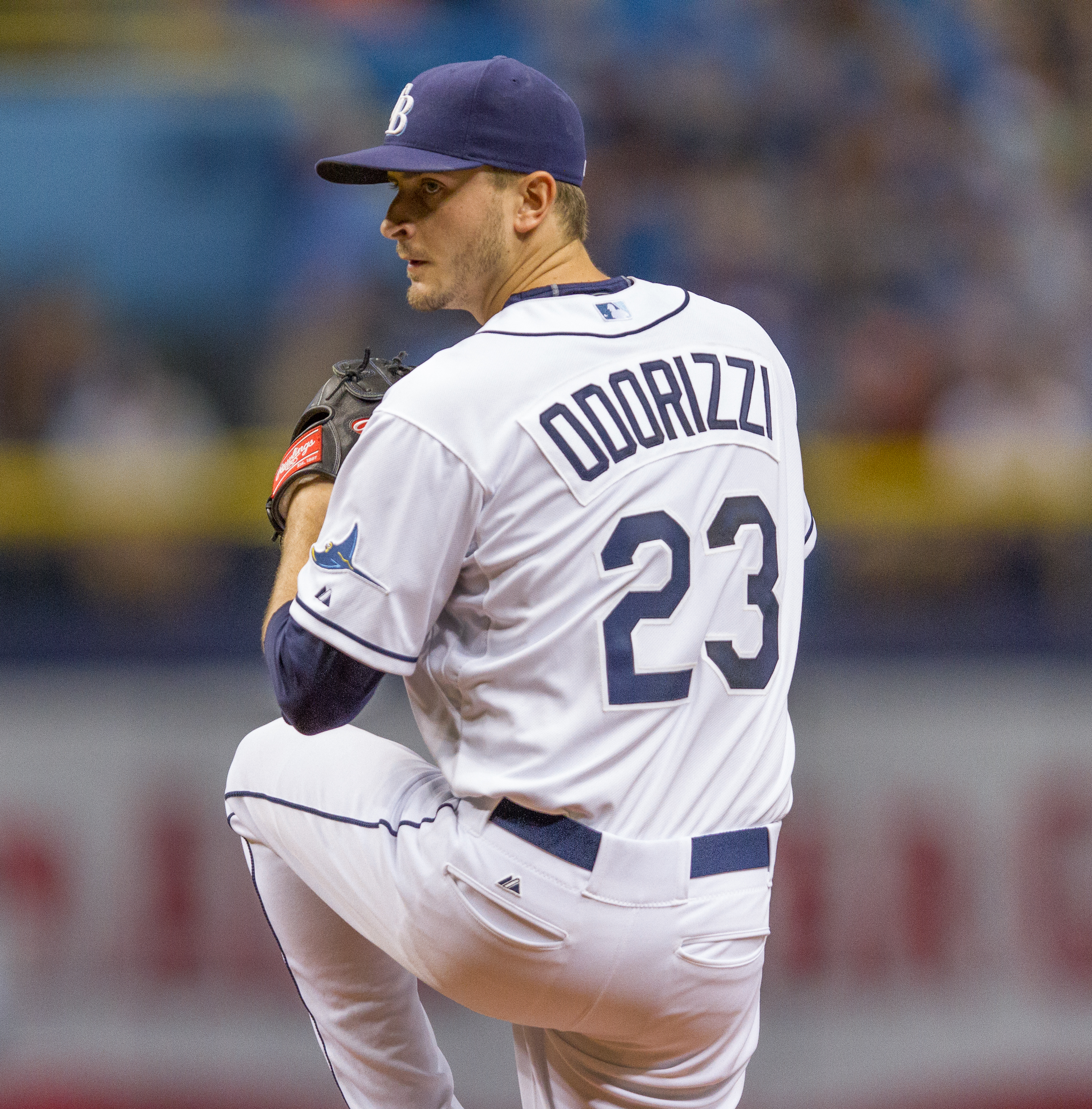 Odorizzi had a rough outing for Rays./JEFFREY S. KING