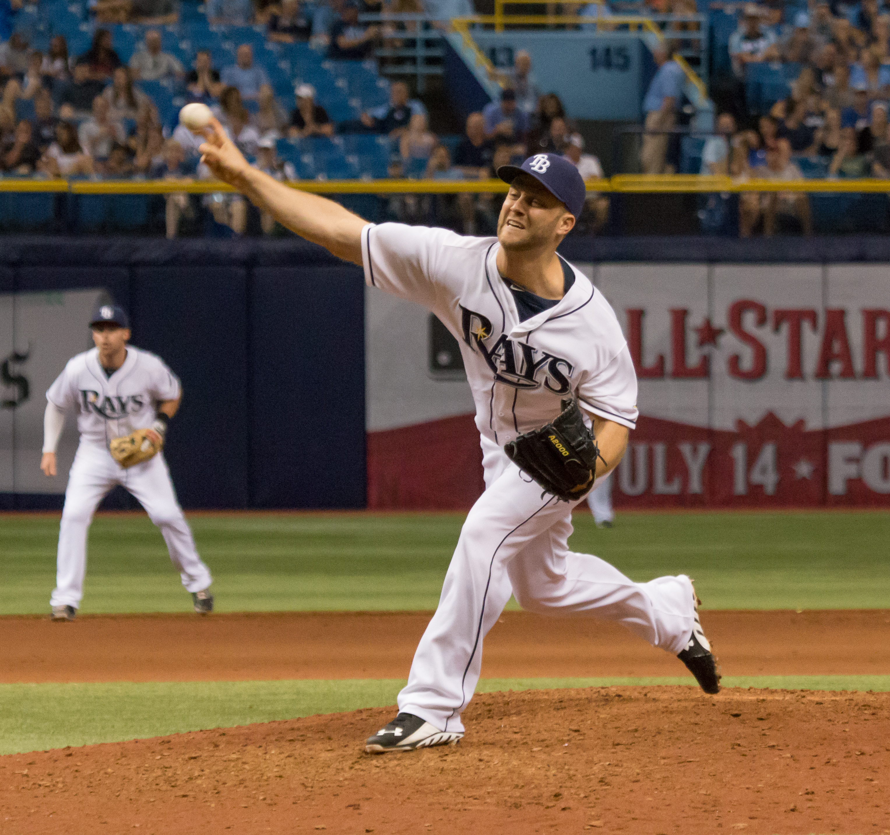 Boxberger has gone through a rough patch with Rays lately./JEFFREY S. KING