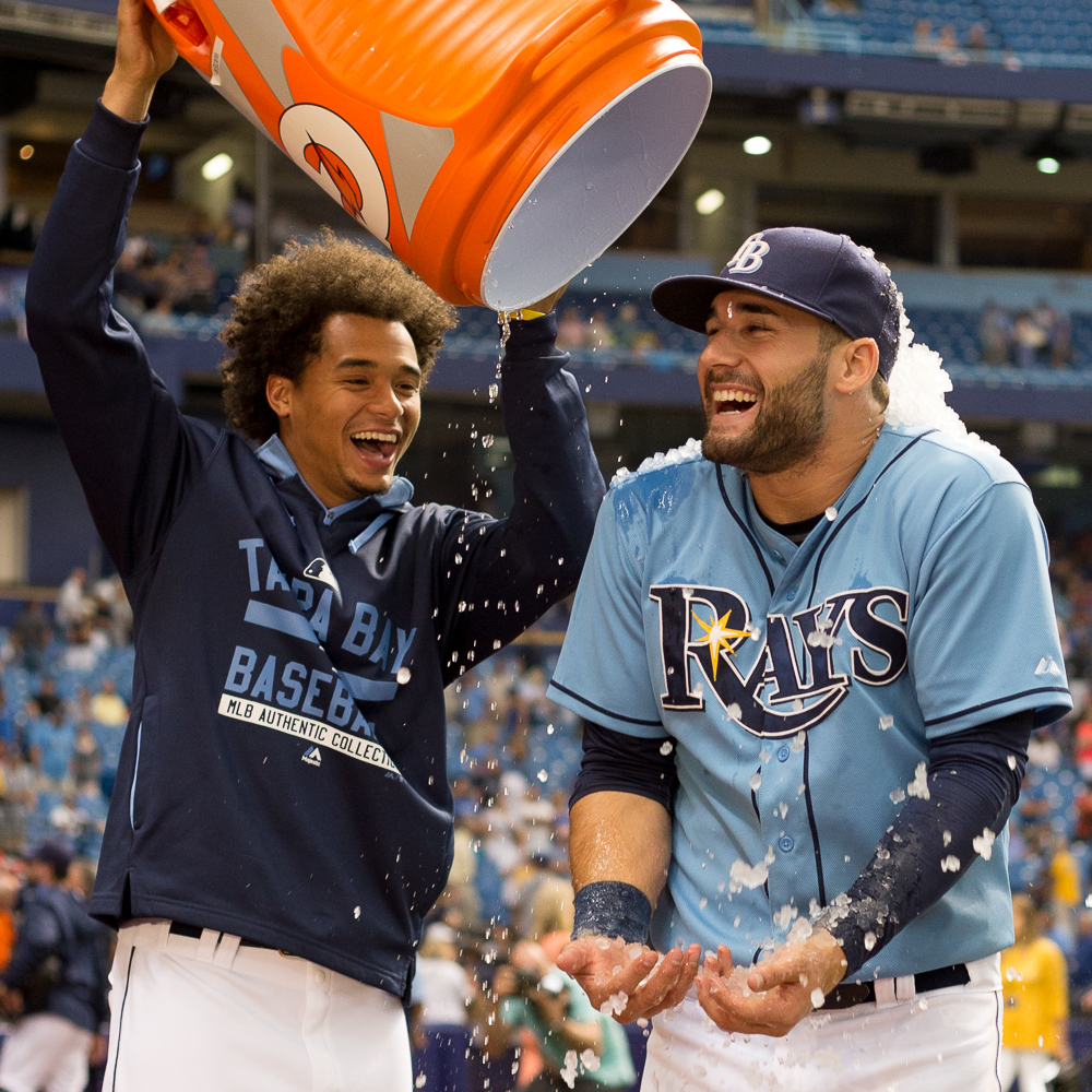 Kiermaier hit the tie-breaking homer in the 6th as the Rays finally beat the Royals./ANDREW J. KRAMER