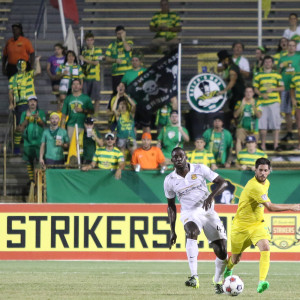 The Rowdies Ralph Mob travels exceedingly well, but the same was not true tonight for their team/ANDREW J. KRAMER