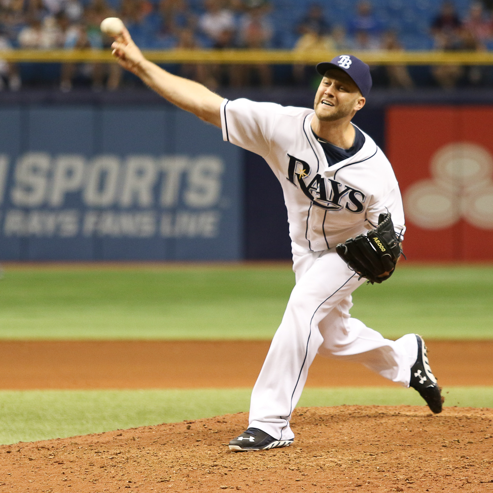 Boxberger earned his 31st save, moving into a three-way tie to lead the AL./ANDREW J. KRAMER