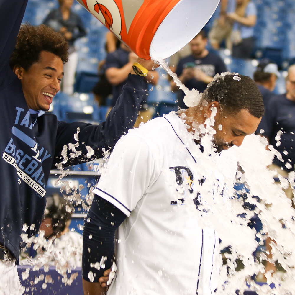 Archer welcomes Butler back to the Trop./ANDREW J. KRAMER