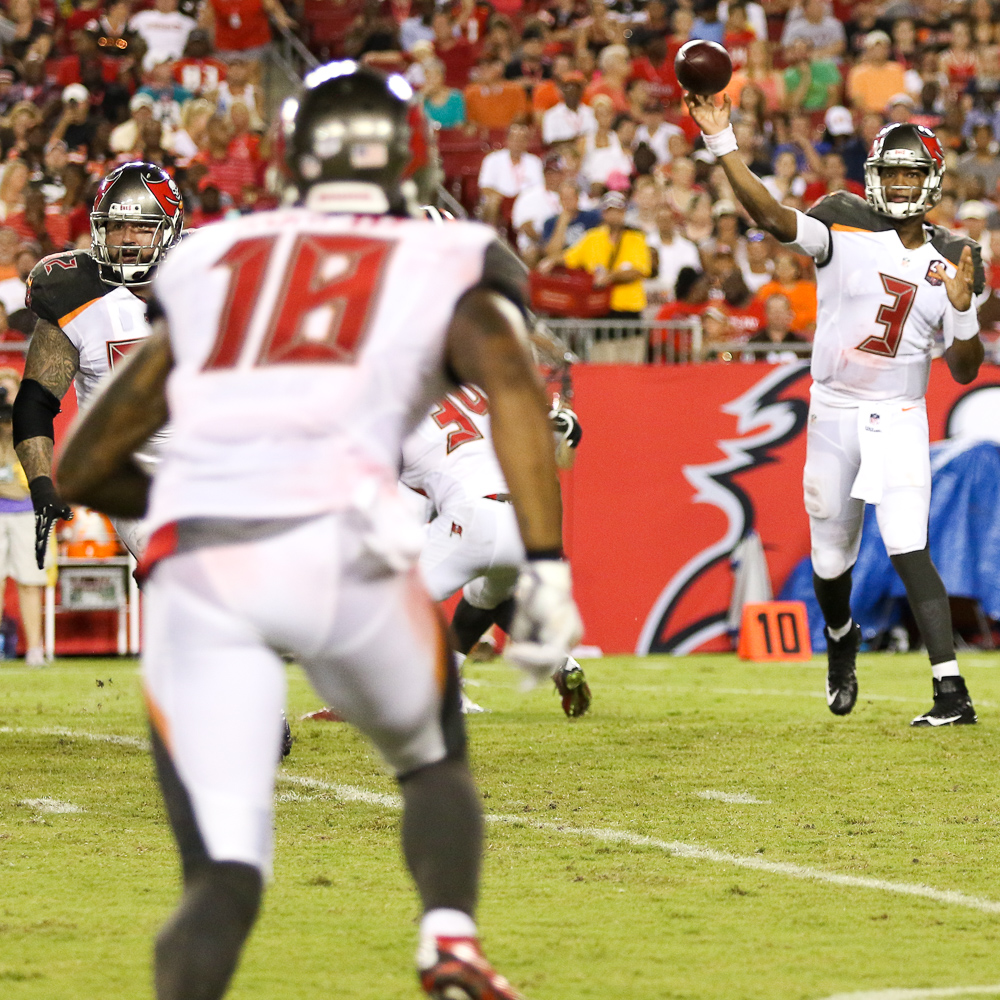 Winston completed 6 of 15 pass attempts for 90 yards, and tossed 1 interception/ANDREW J. KRAMER