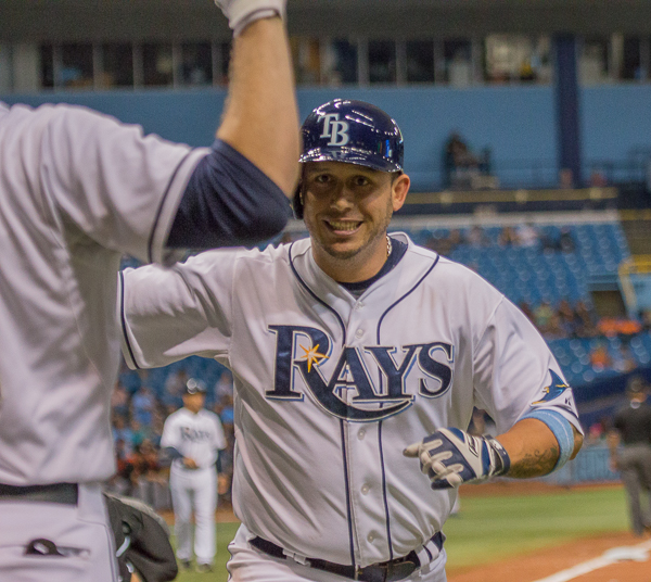 Cabrera's two-run homer lifted the Rays to victory over the Marlins./JEFFREY S. KING