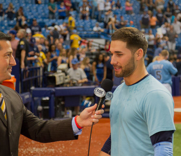 Kiermaier's rare heroics pulled out a victory for the Rays./JEFFREY S. KING