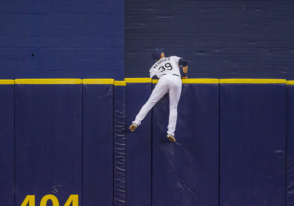Opponents don't hit many that Kiermaier can't reach./TRAVIS PENDERGRASS