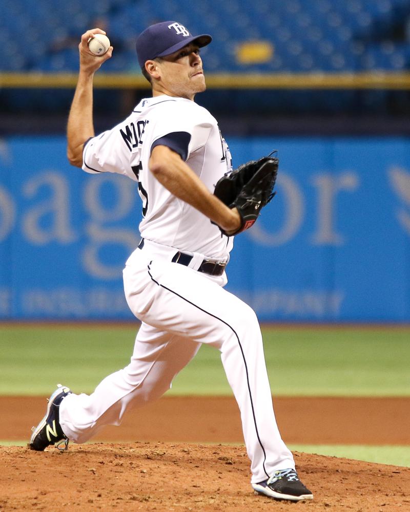 Moore threw 9 strikeouts over 7 innings./ANDREW J. KRAMER