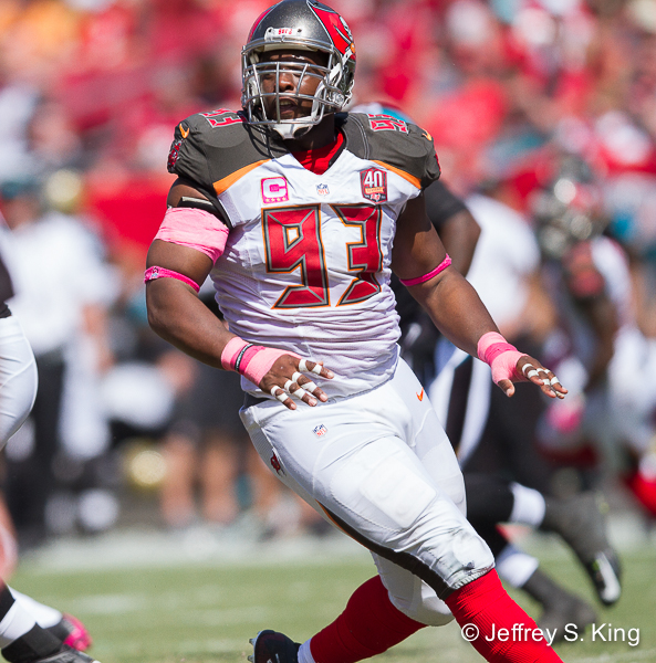 The Bucs' defense starts with McCoy../JEFFREY S. KING