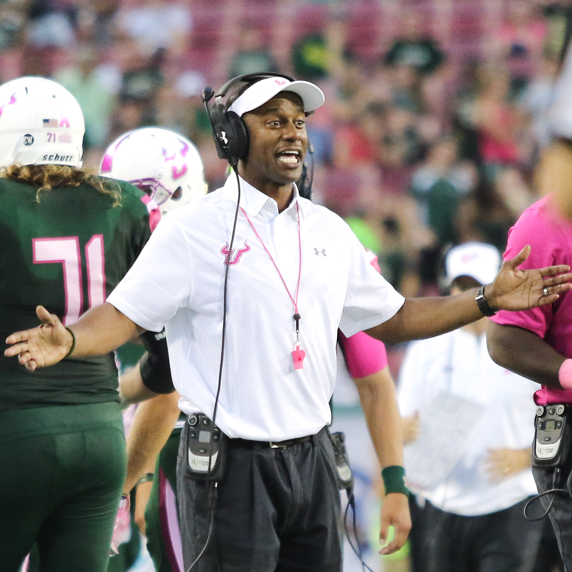 Taggart made football matter again at USF. /ANDREW J. KRAMER