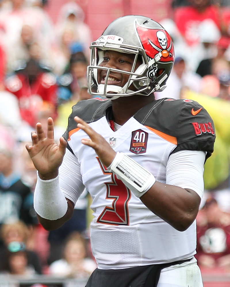 Jameis Winston threw four interceptions in his worst game./ANDREW J. KRAMER