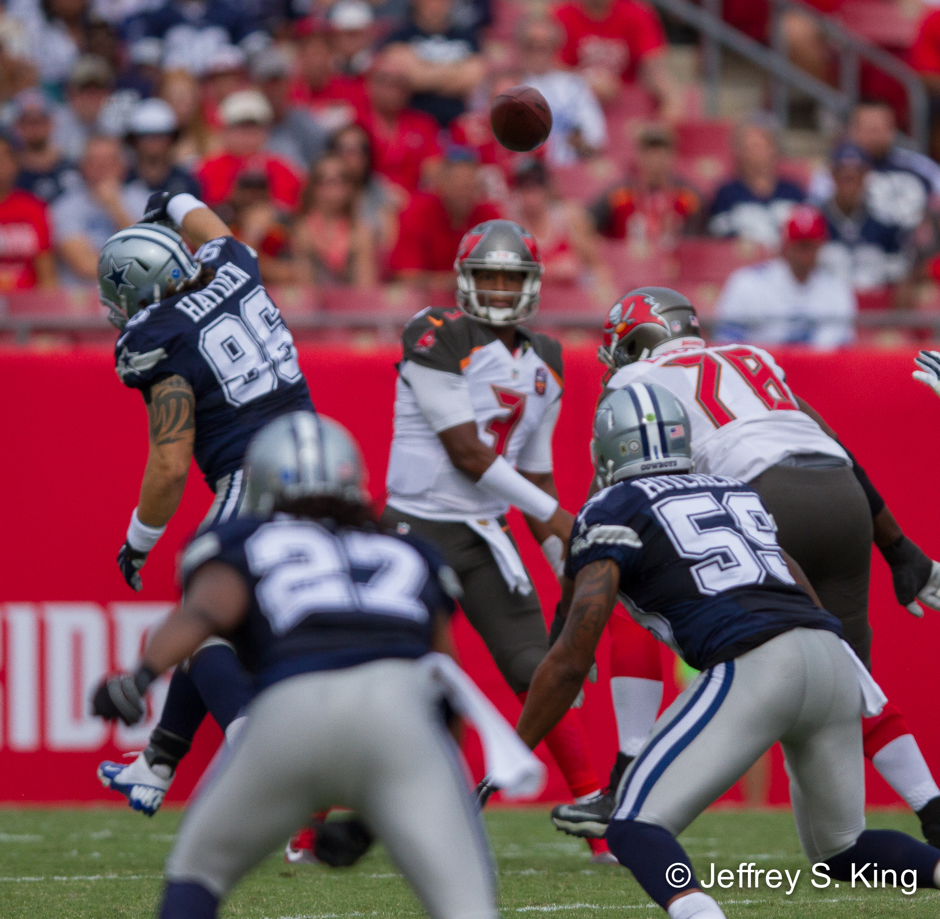 #3 Jameis Wilson throwing the ball (1 of 1)