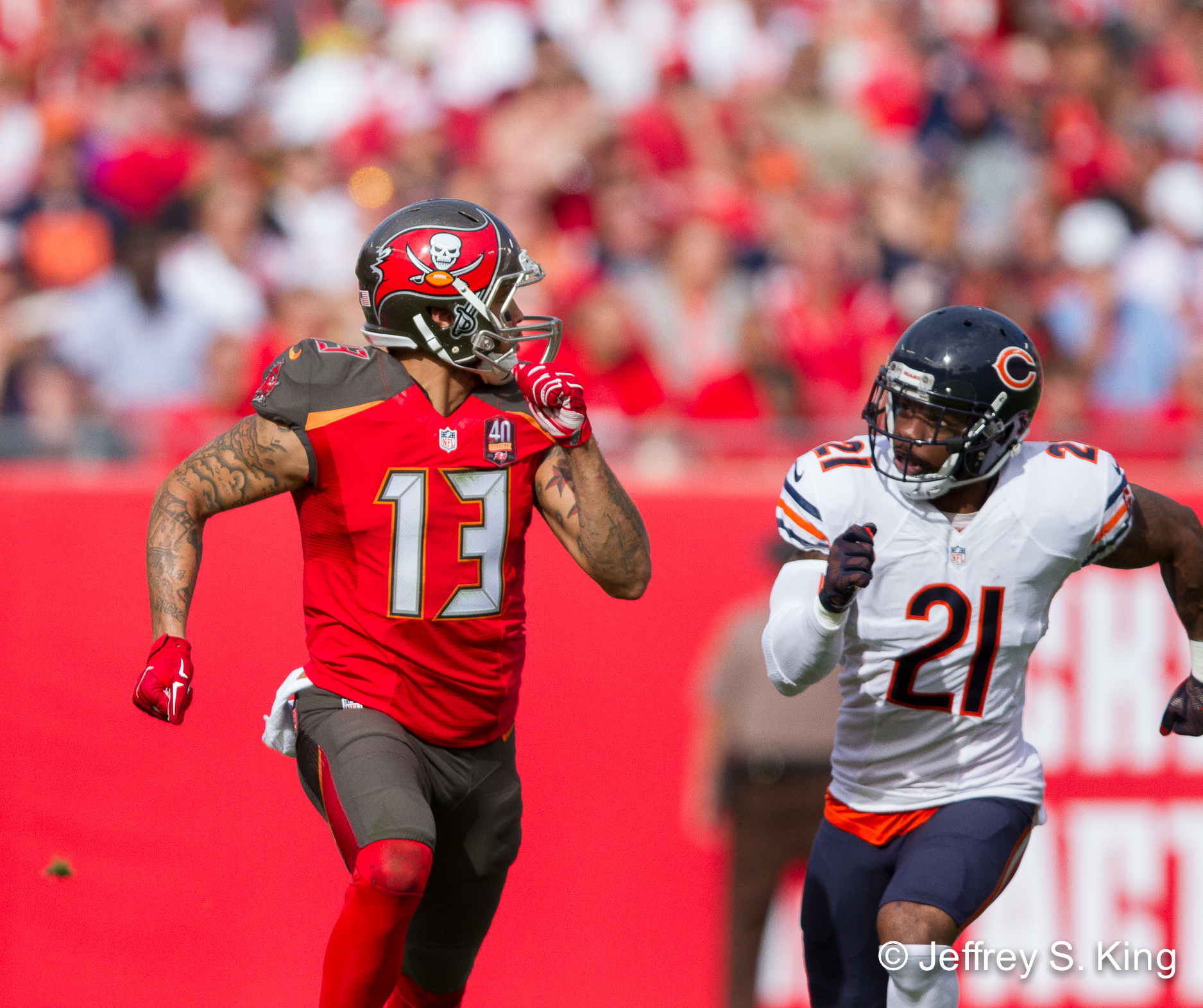 Evans led the NFL in dropped passes a year ago./JEFFREY S. KING