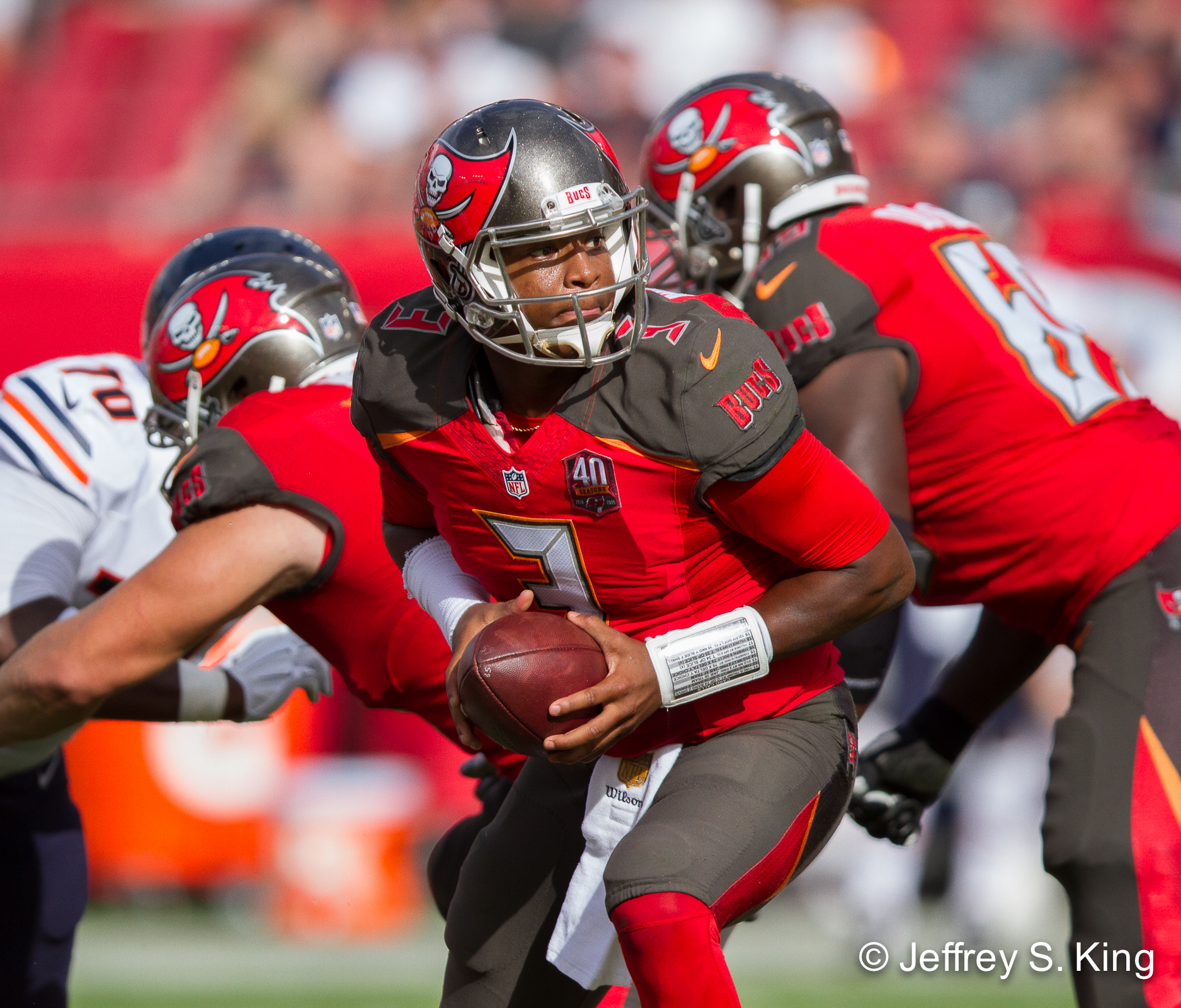 The Bucs' improvement has to start at quarterback Jameis Winston ./JEFFREY S. KING