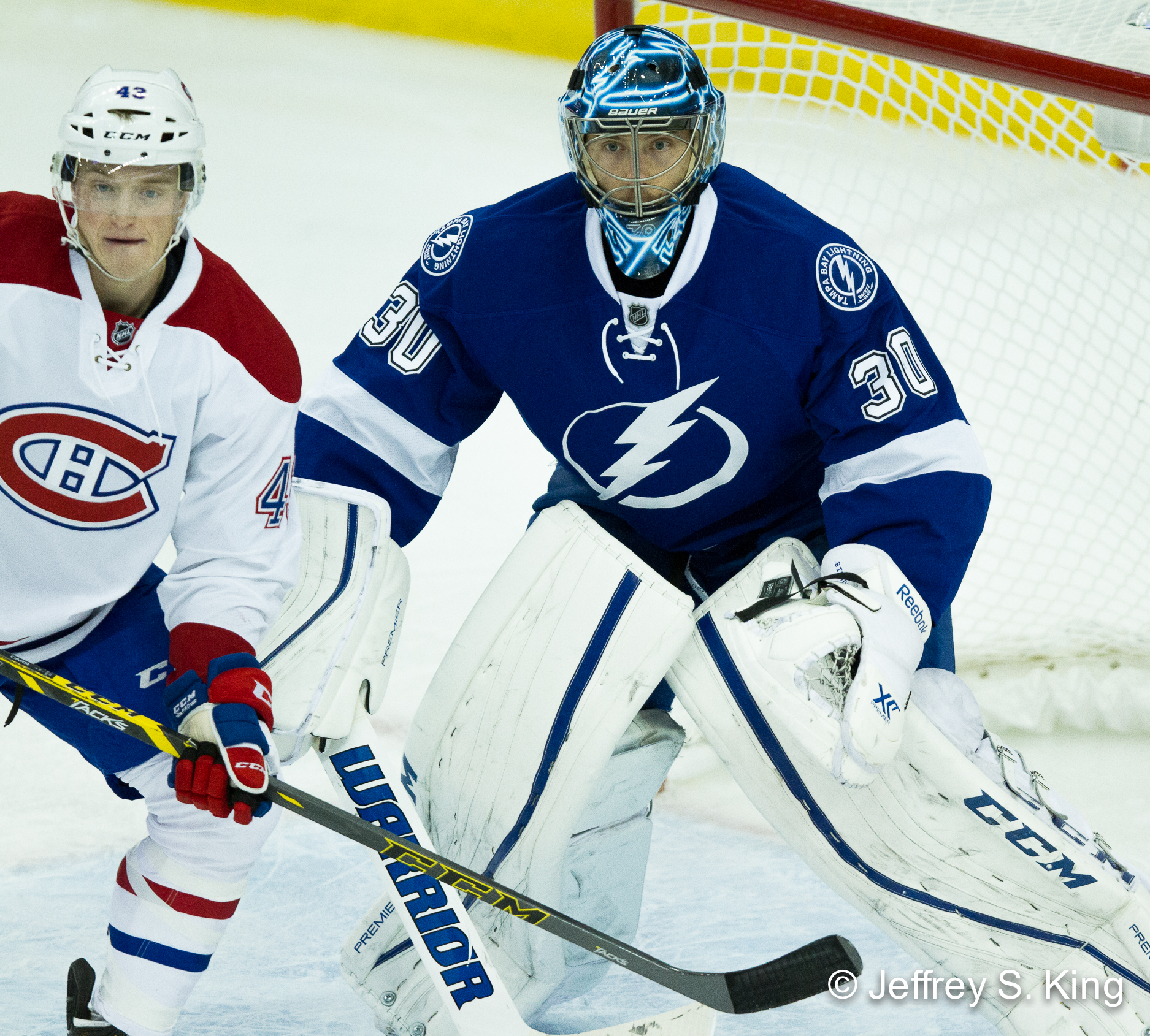 Ben Bishop has allowed the Lightning to become a defensive club./JEFFREY KING