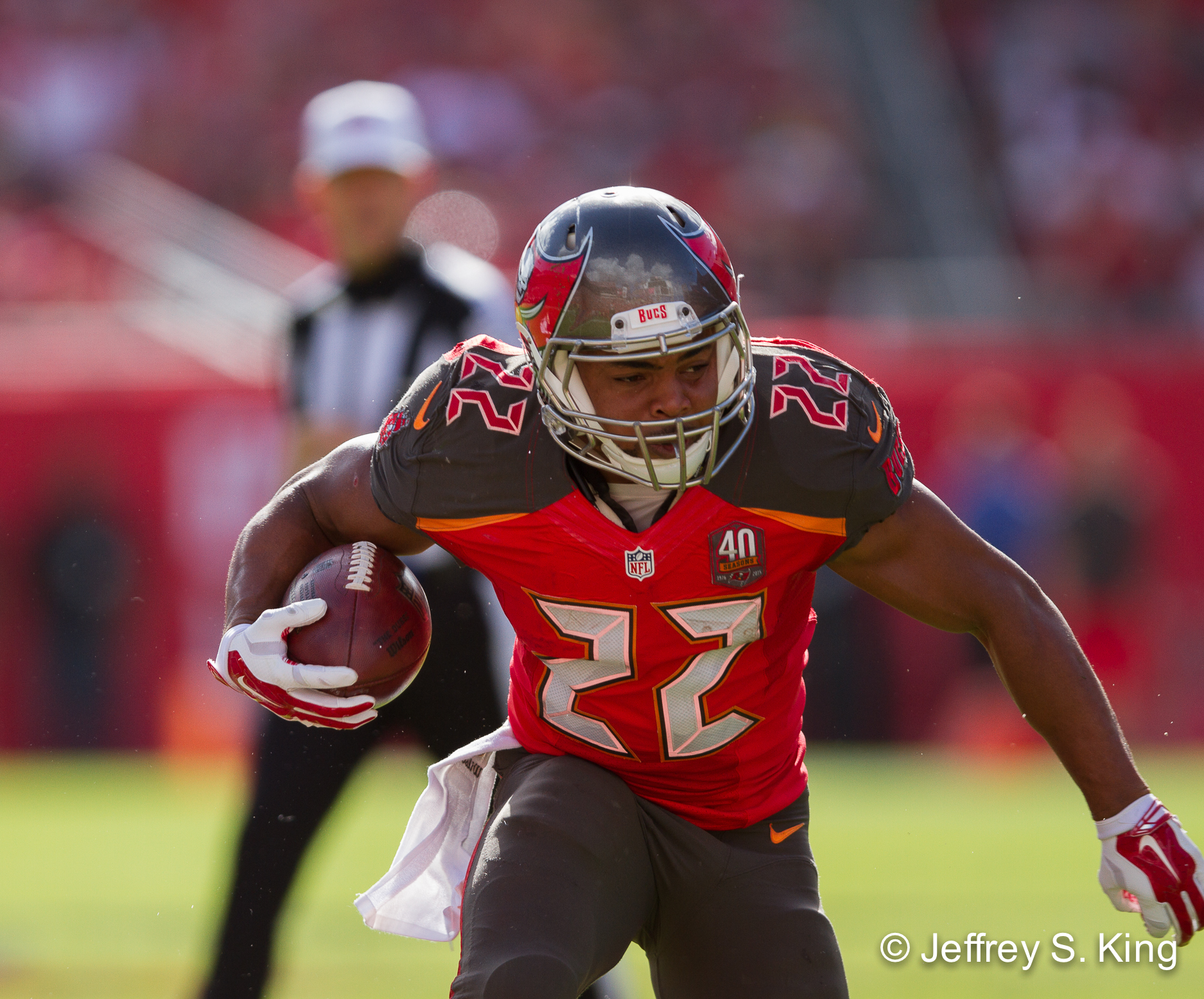 Doug Martin was second in the NFL in rushing. /JEFFREY KING