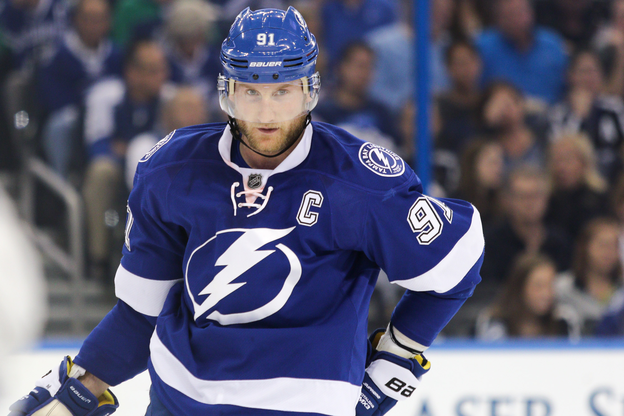 Stamkos remains unsigned by Lightning./ANDREW J. KRAMER