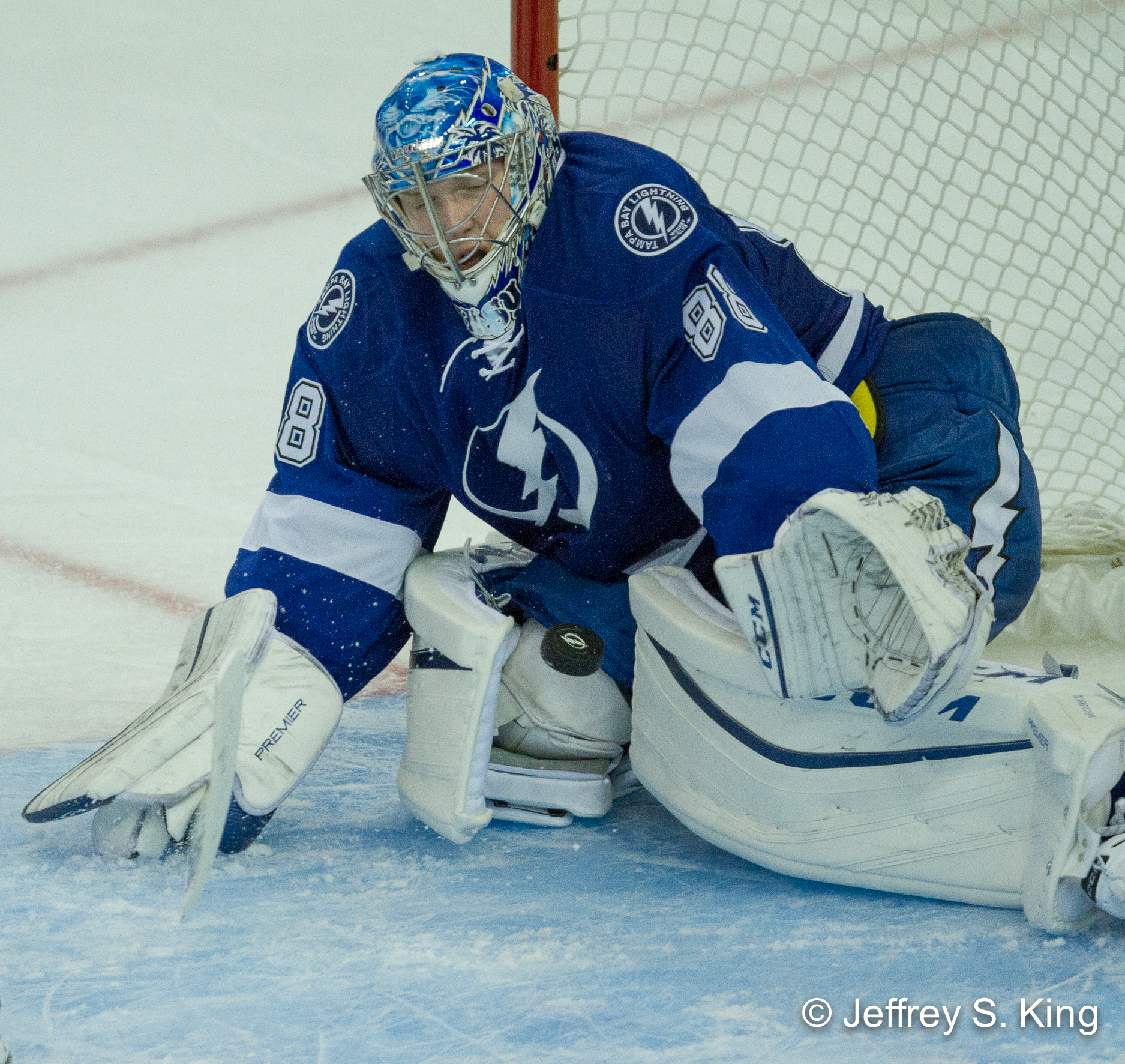 Vasilevskiy stopped 35 shots, but it wasn't enough./JEFFREY S. KING