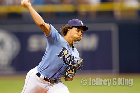 Chris Archer started slowly, but he had 12 strikeouts.