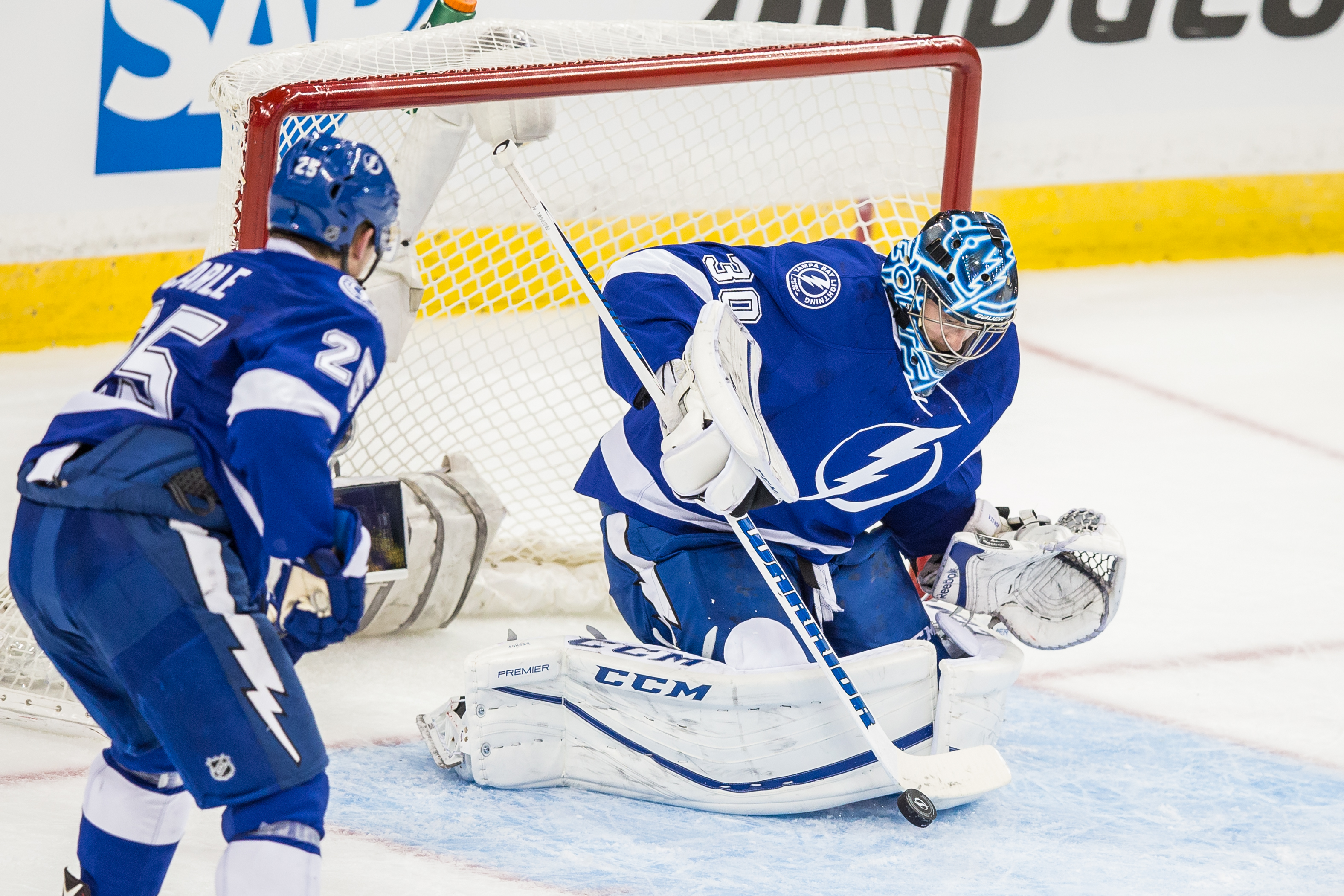 Ben Bishop has been hard on the Red Wings the last two years./TRAVIS PENDERGRASS