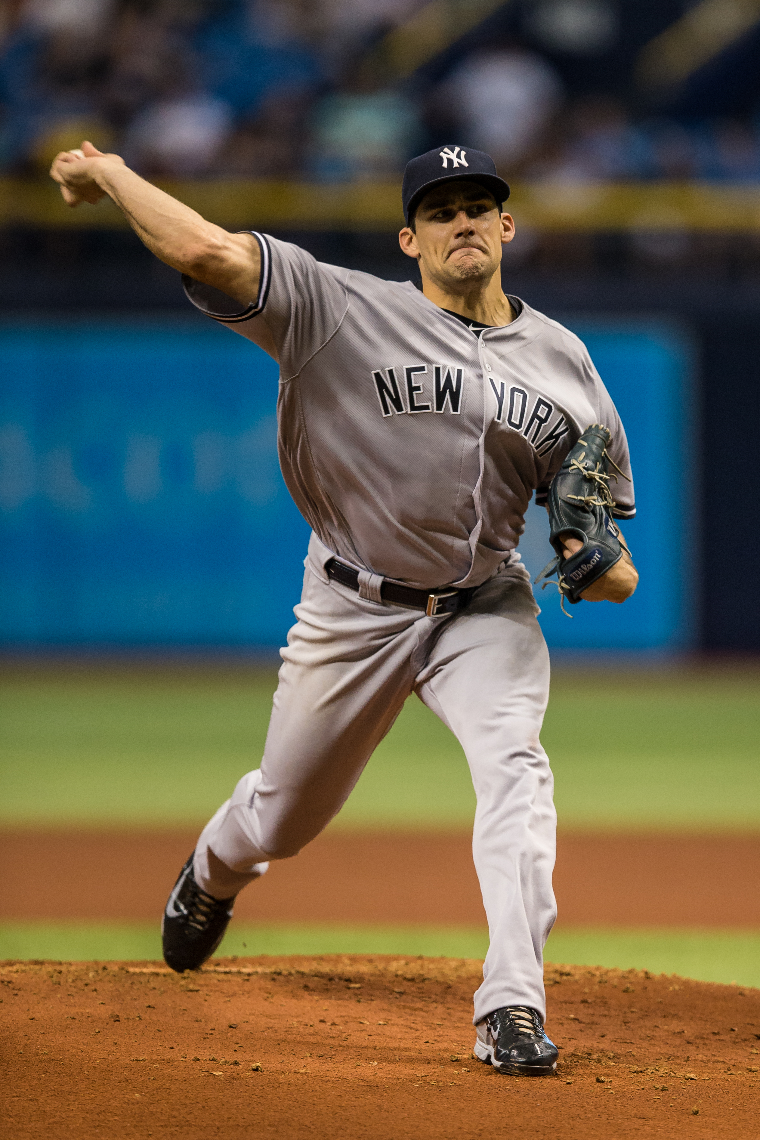 Eovaldi, shown pitching for the Yankees, finally returned to the mound./TRAVIS PENDERGRASS