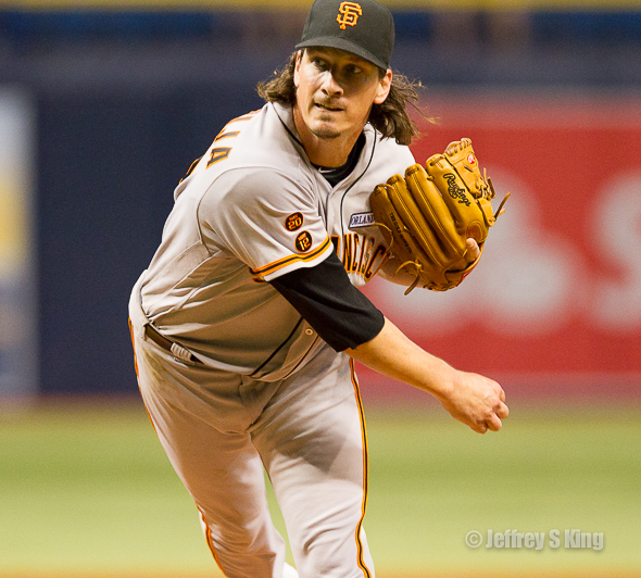 Samardzija tamed the Rays on four hits.