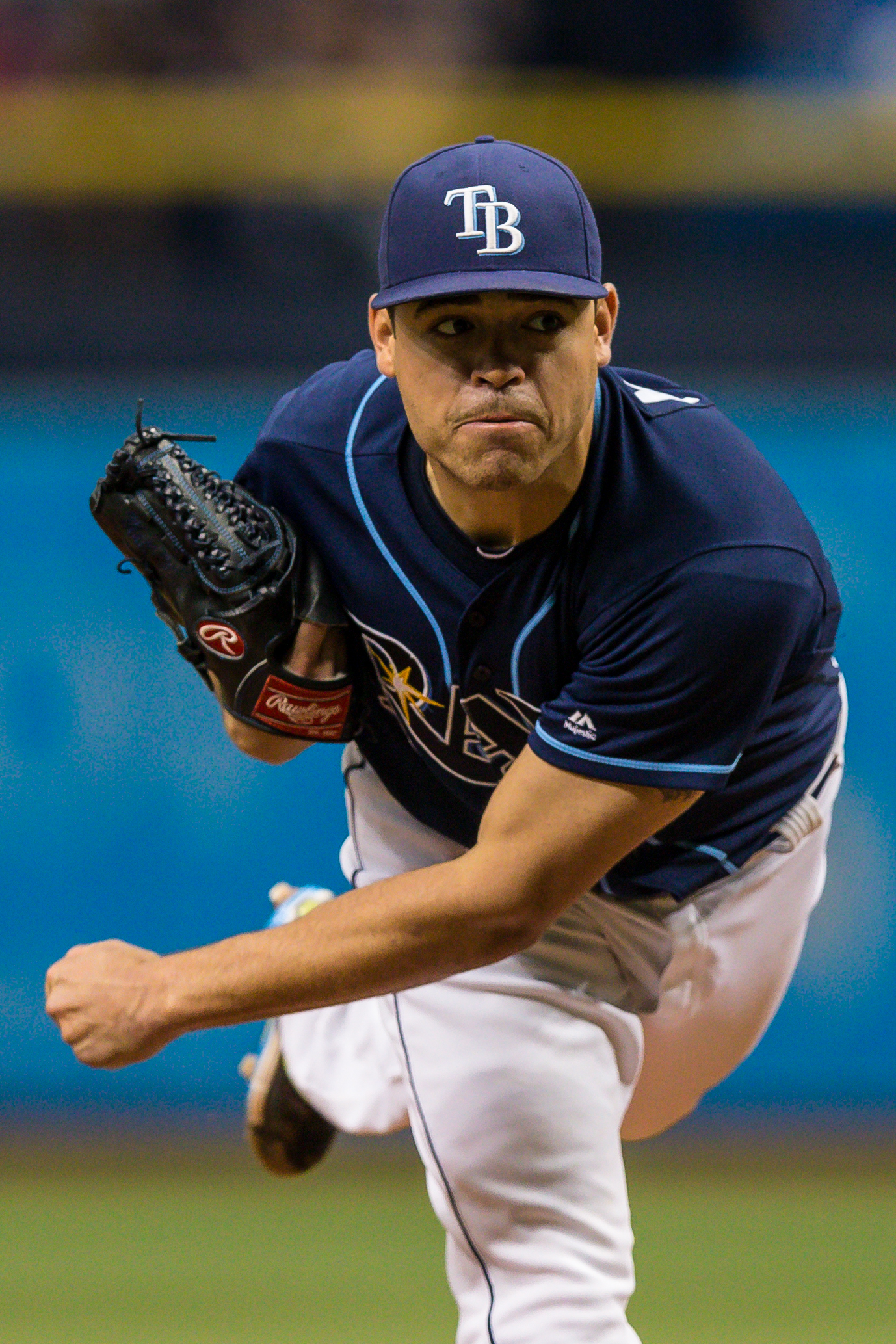 Matt Moore had become the Rays' best pitcher, but at a price./TRAVIS PENDERGRASS