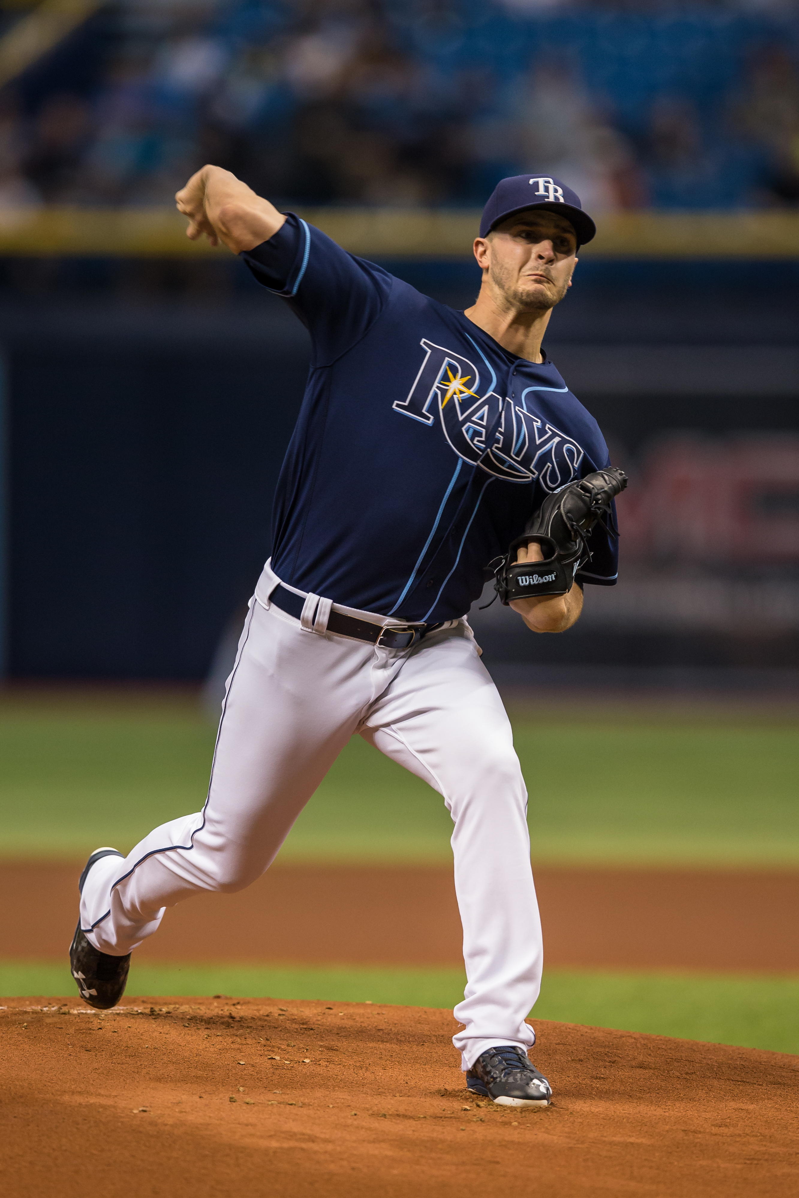 Seven innings of work took the pressure of the Rays' bullpen./ANDREW J. KRAMER