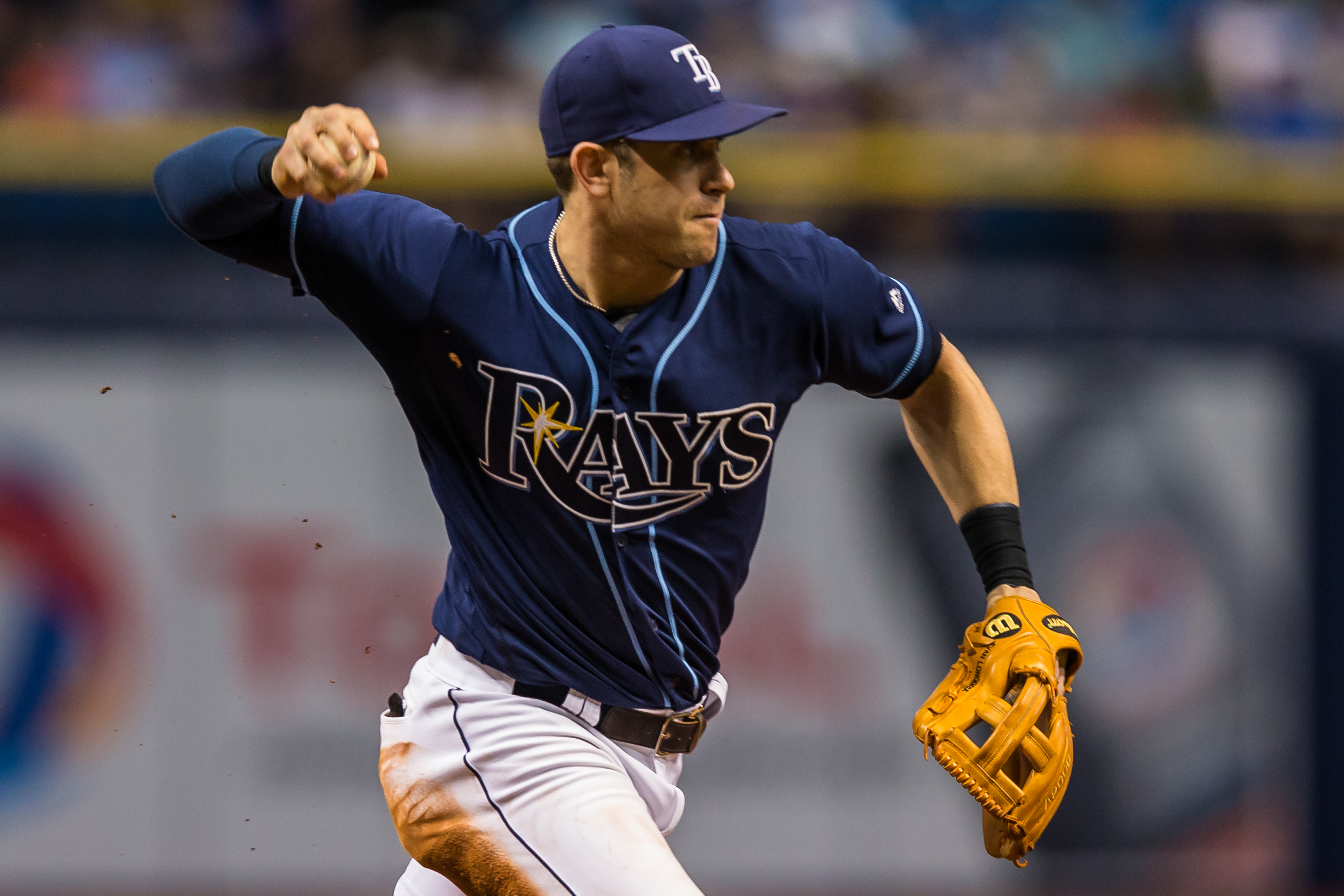 Longoria had two hits in the Rays' wn../TRAVIS PENDERGRASS
