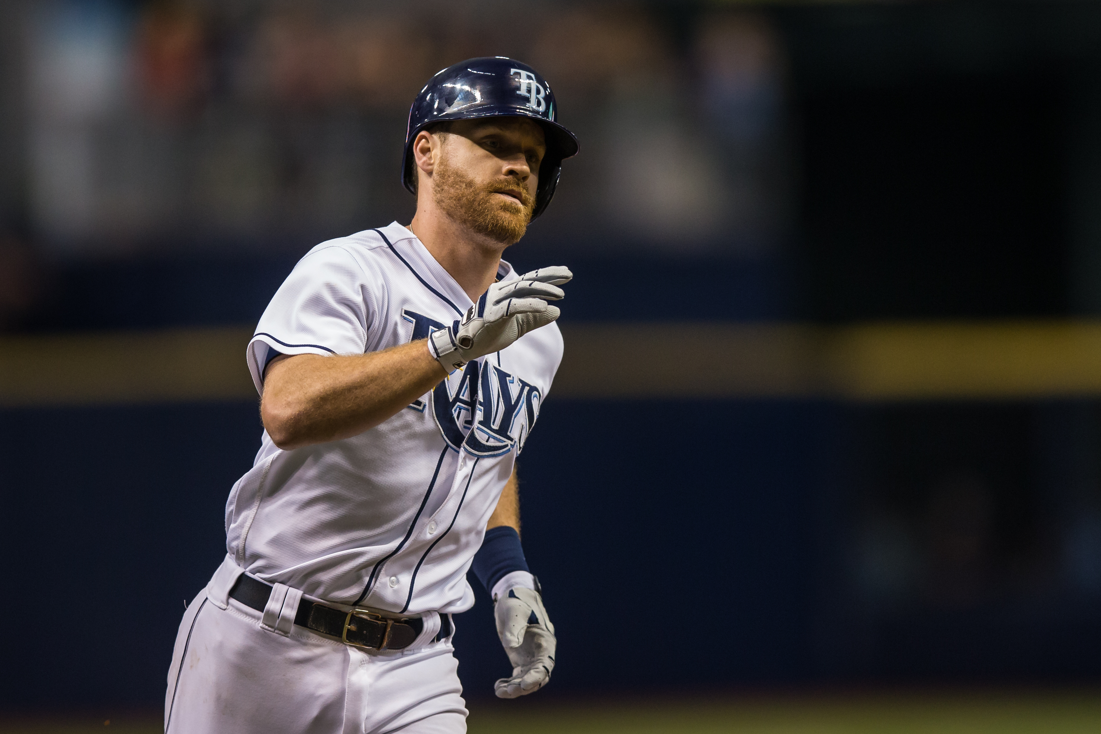 Forsythe has hit safely in eight of his last nine games./TRAVIS PENDERGRASS