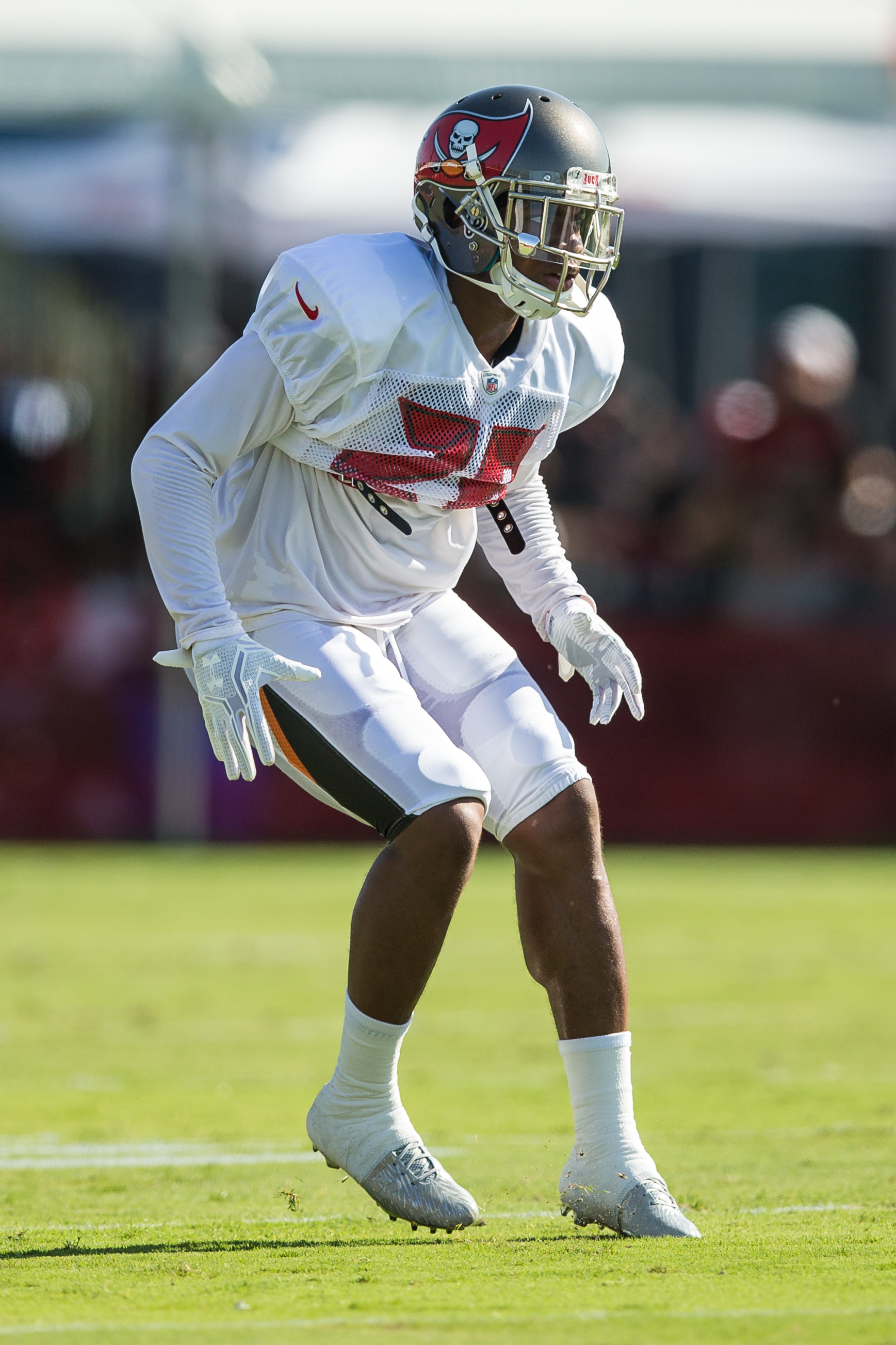 Can the Bucs' Hargreaves slow down Atlanta's Julio Jones./TRAVIS PENDERGRASS