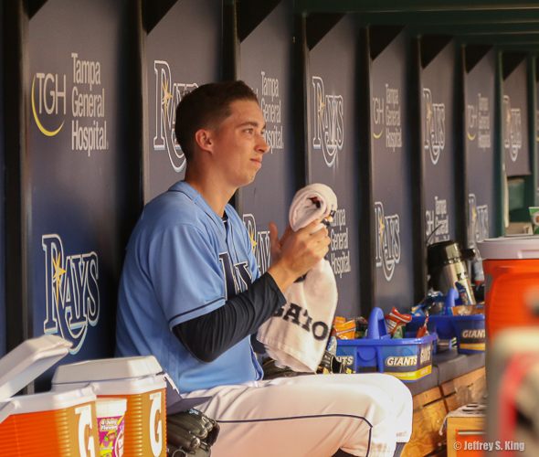 In his return, Blake Snell looked pretty much like he did before leaving./TRAVIS PENDERGRASS