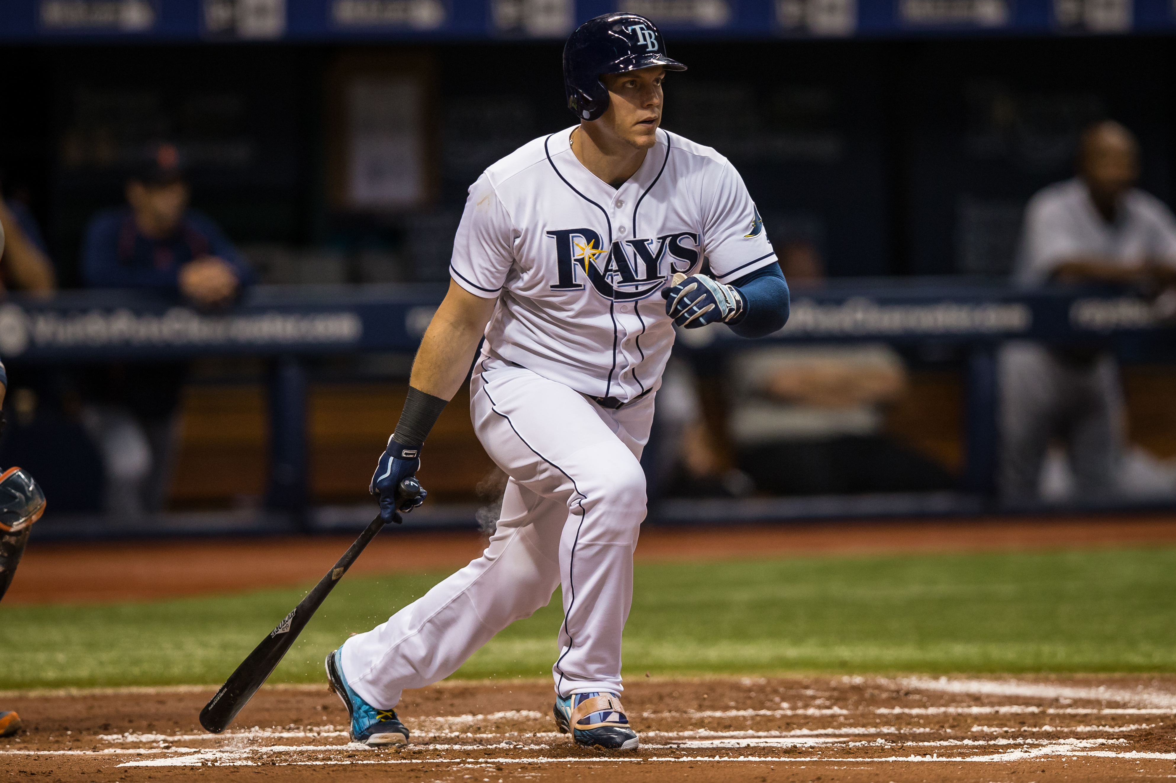 Morrison has had a lot of big hits for the Rays./STEVEN MUNCIE