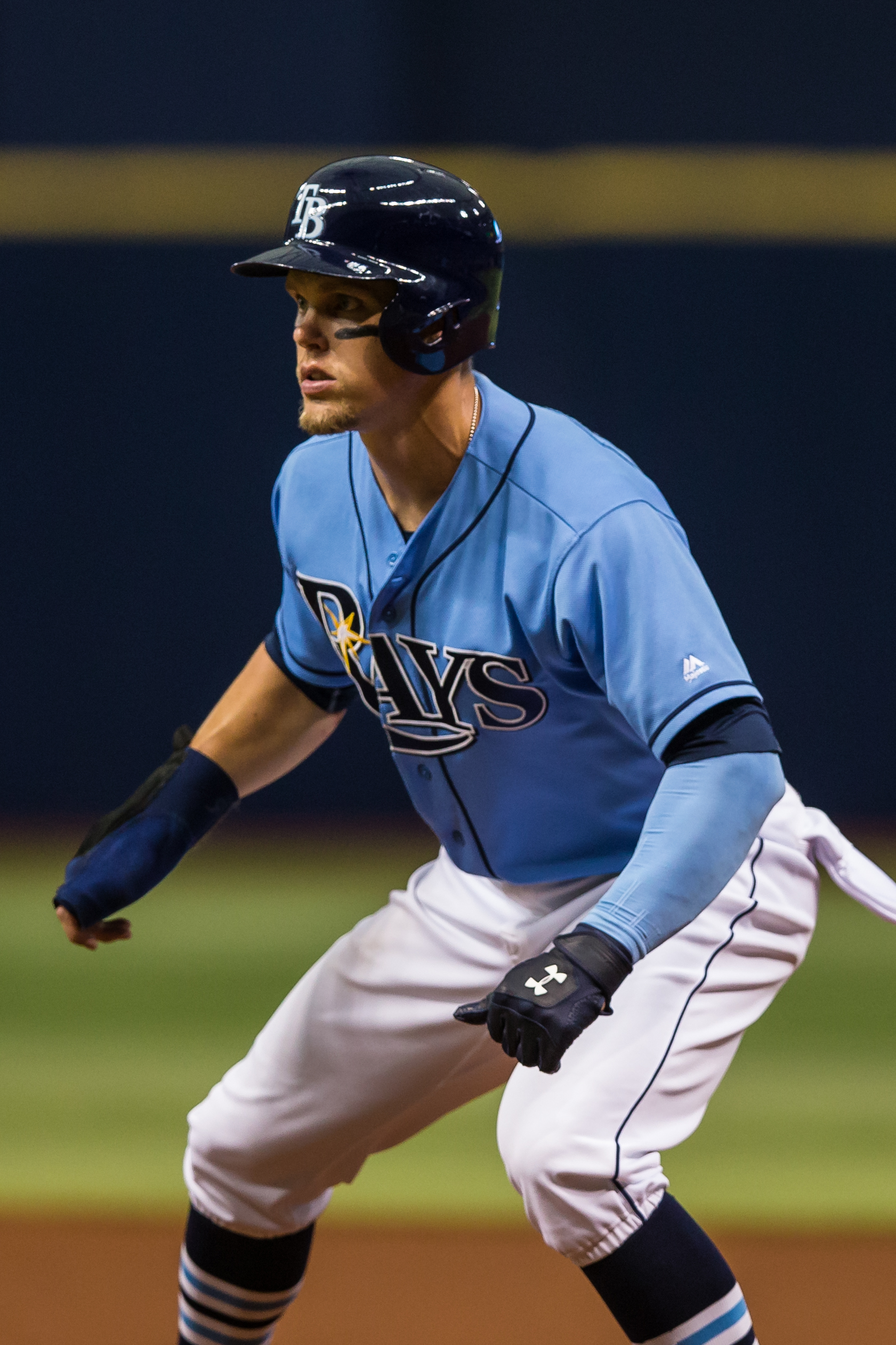 Guyer went one-for-three in the Rays' loss./