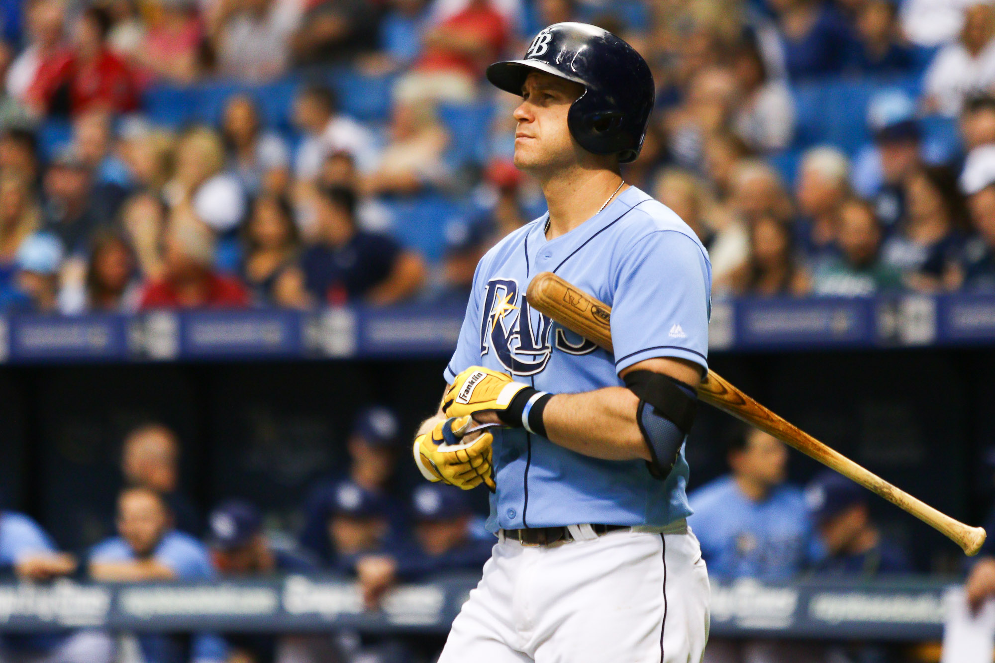 Evan Longoria had two hits, tying for his most ever./ANDREW J. KRAMER