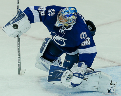 Vasilevskiy bailed out the Lightning in the early going./TRAVIS PENDERGRASS