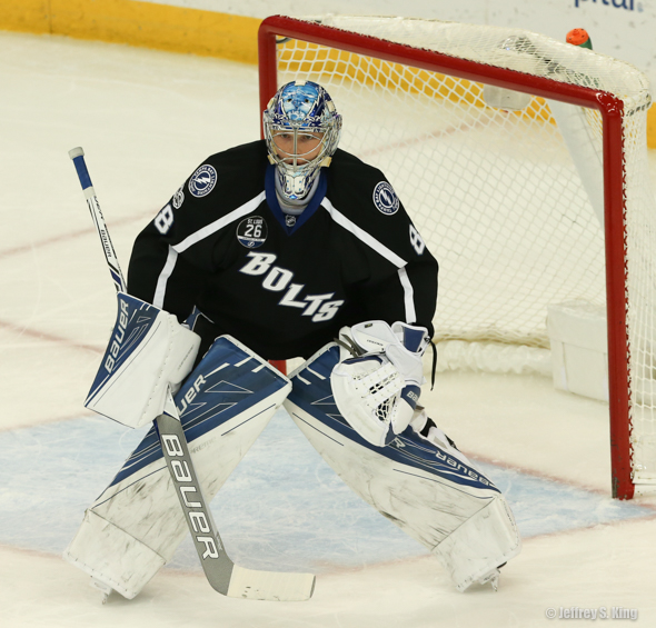 Vasilevskiy returned to the net and made 28 saves in loss./JEFFREY S. KING