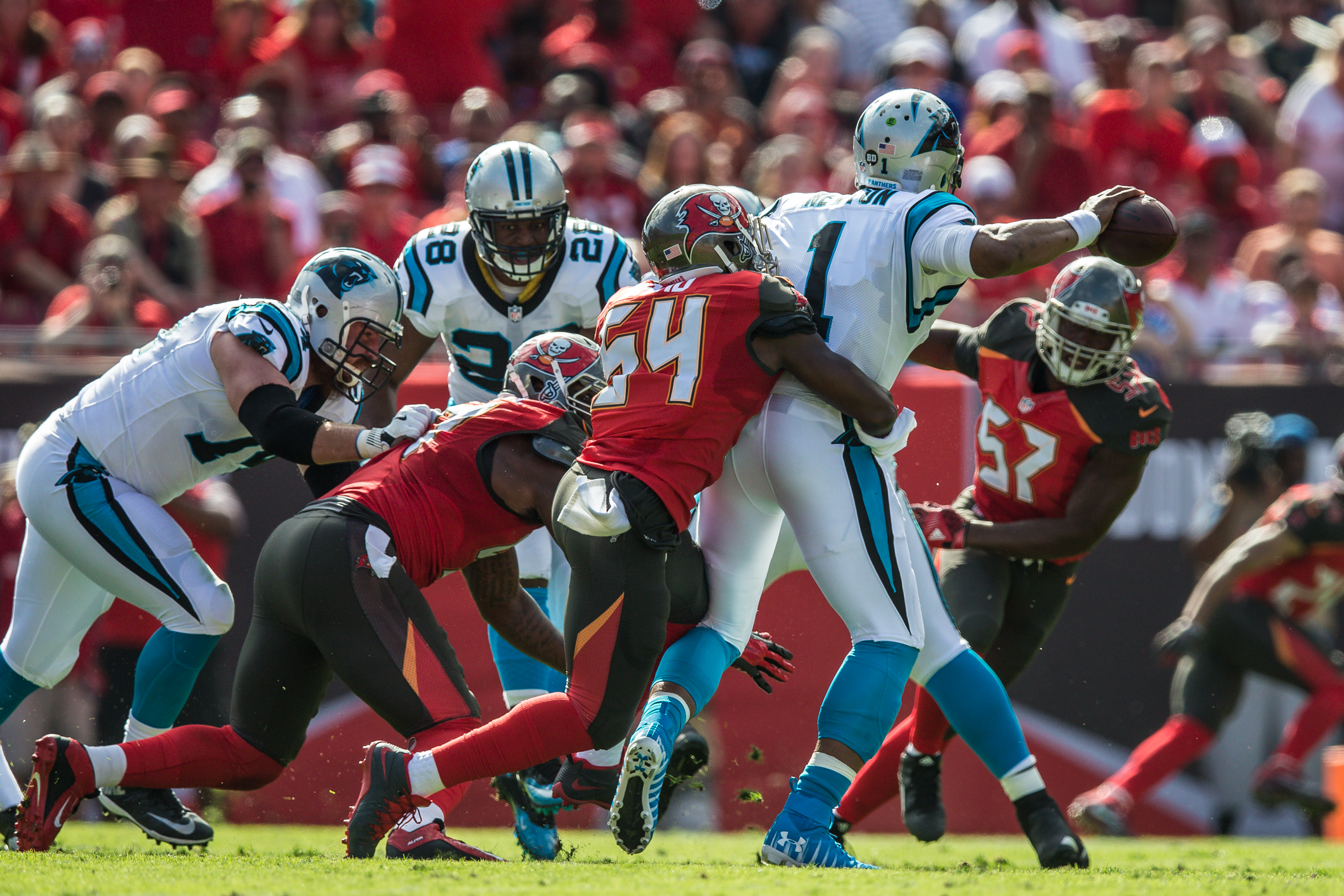 The Bucs need a pass rush against David./