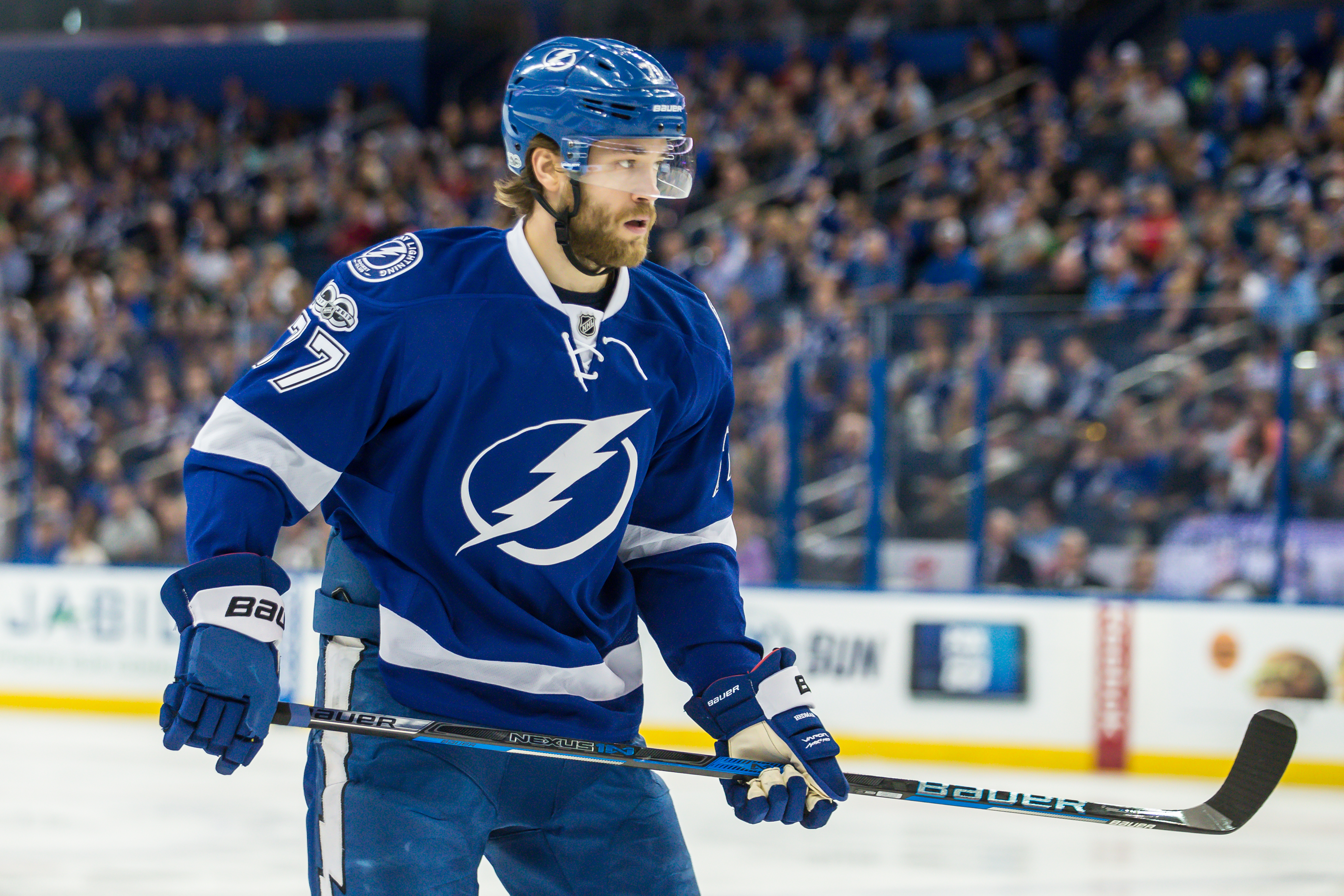Hedman dropped the gloves to protect Bishop./TRAVIS PENDERGRASS