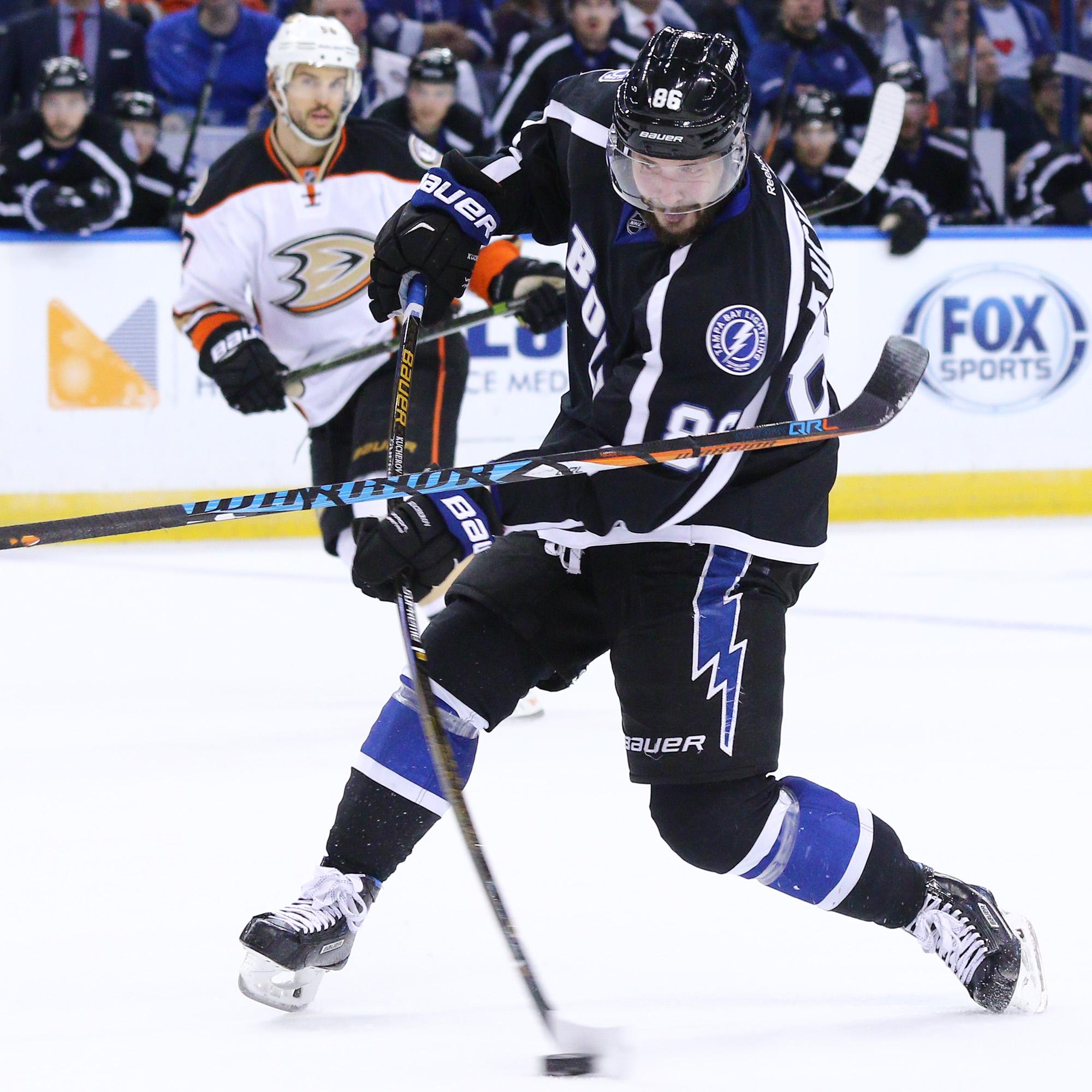 Kucherov scored two goals to lead the Lightning./ANDREW J. KRAMER