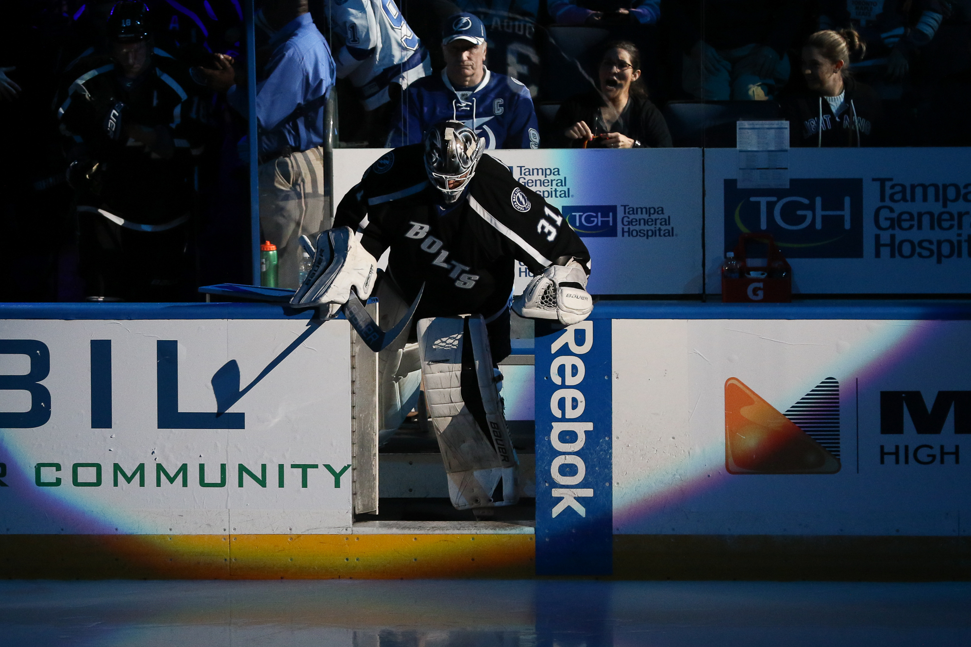 Peter Budaj came in in the second period in relief./Steven Muncie