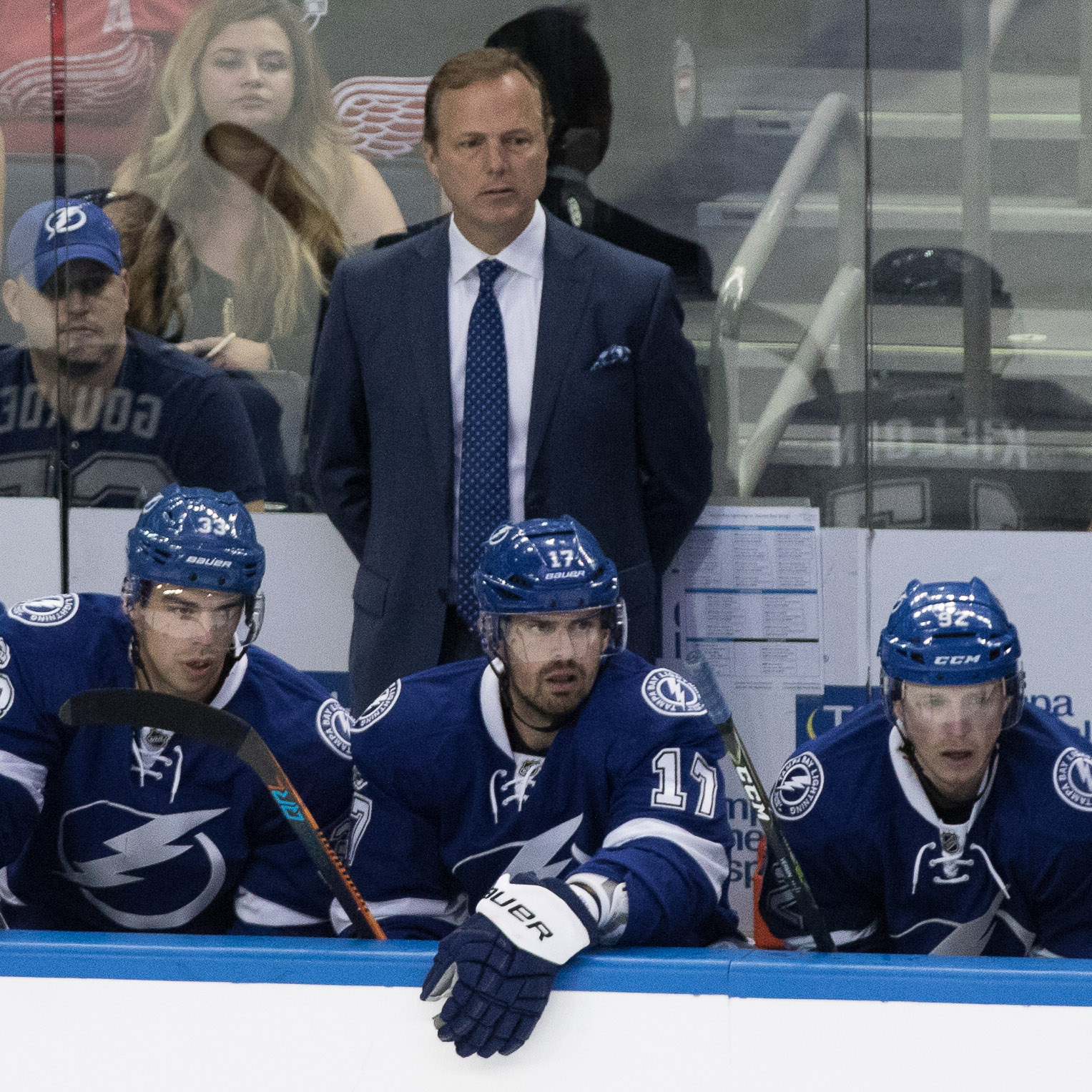 Head Coach Jon Cooper likes his team's resiliency./Steven Muncie