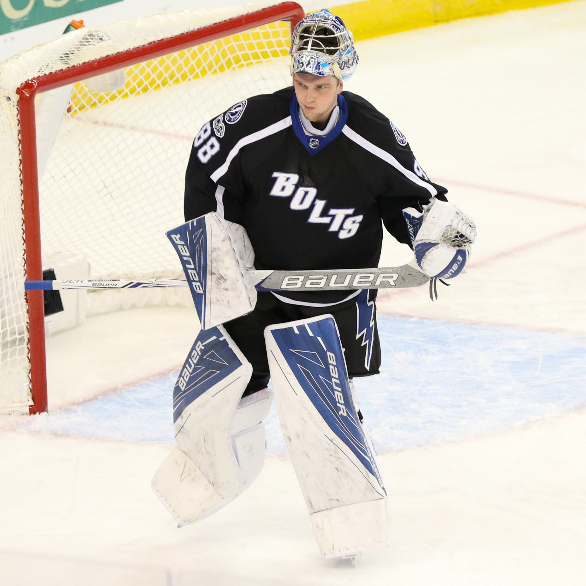 Andrei Vasilevskiy has to be strong in net in the stretch drive./Steven Muncie