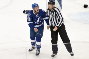 Jake Dotchin lets out some anger./Steven Muncie