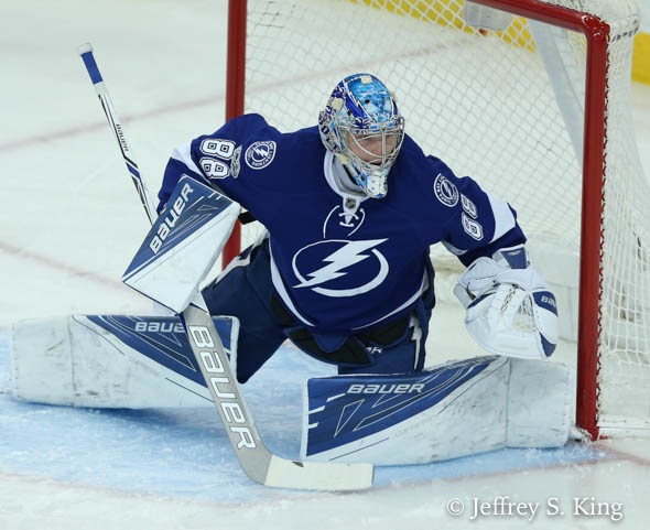 Vasilevskiy notched his second shutout of the year./JEFFREY S. KING
