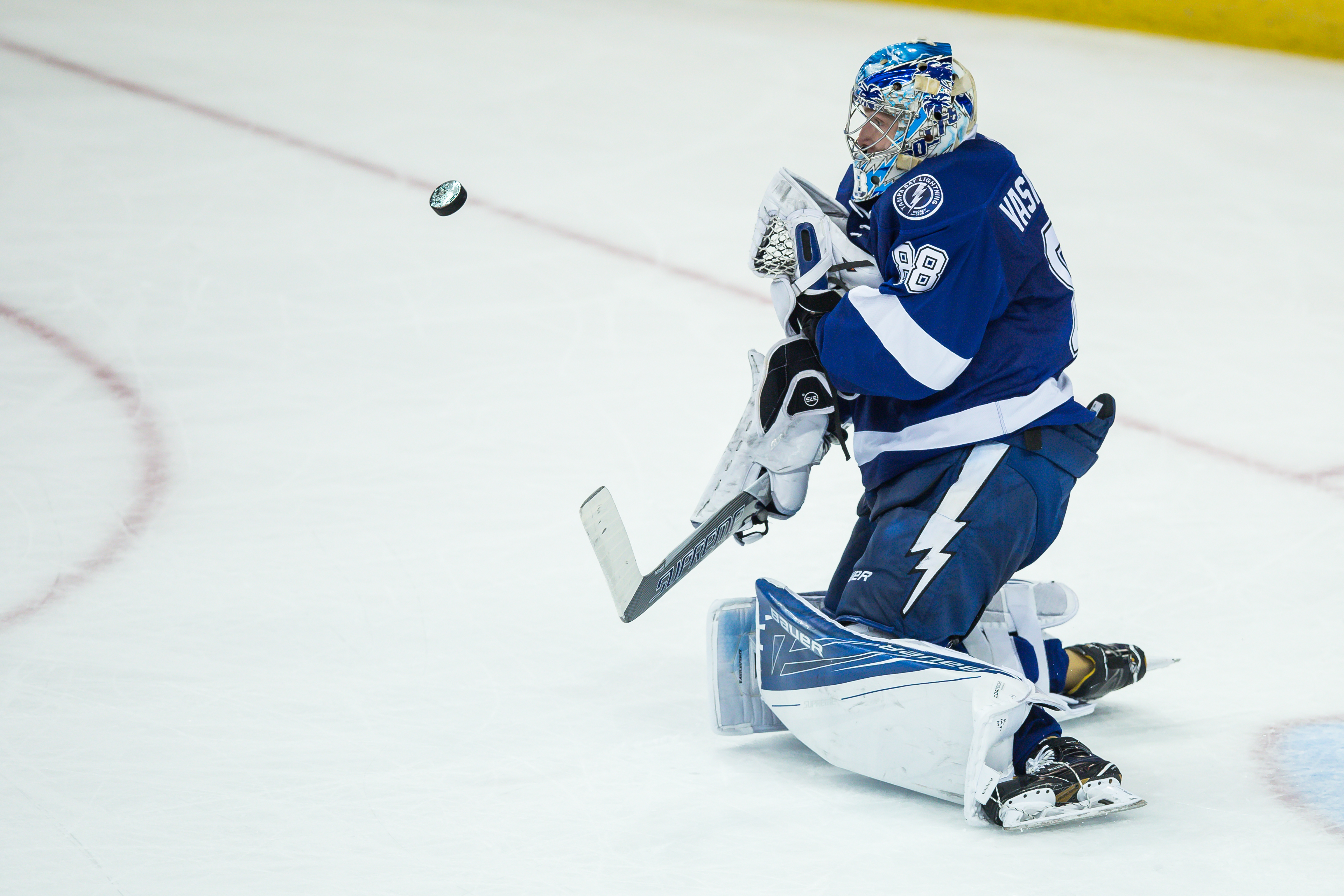 Vasilevskiy won his second straight game for Lightning./TRAVIS PENDERGRASS