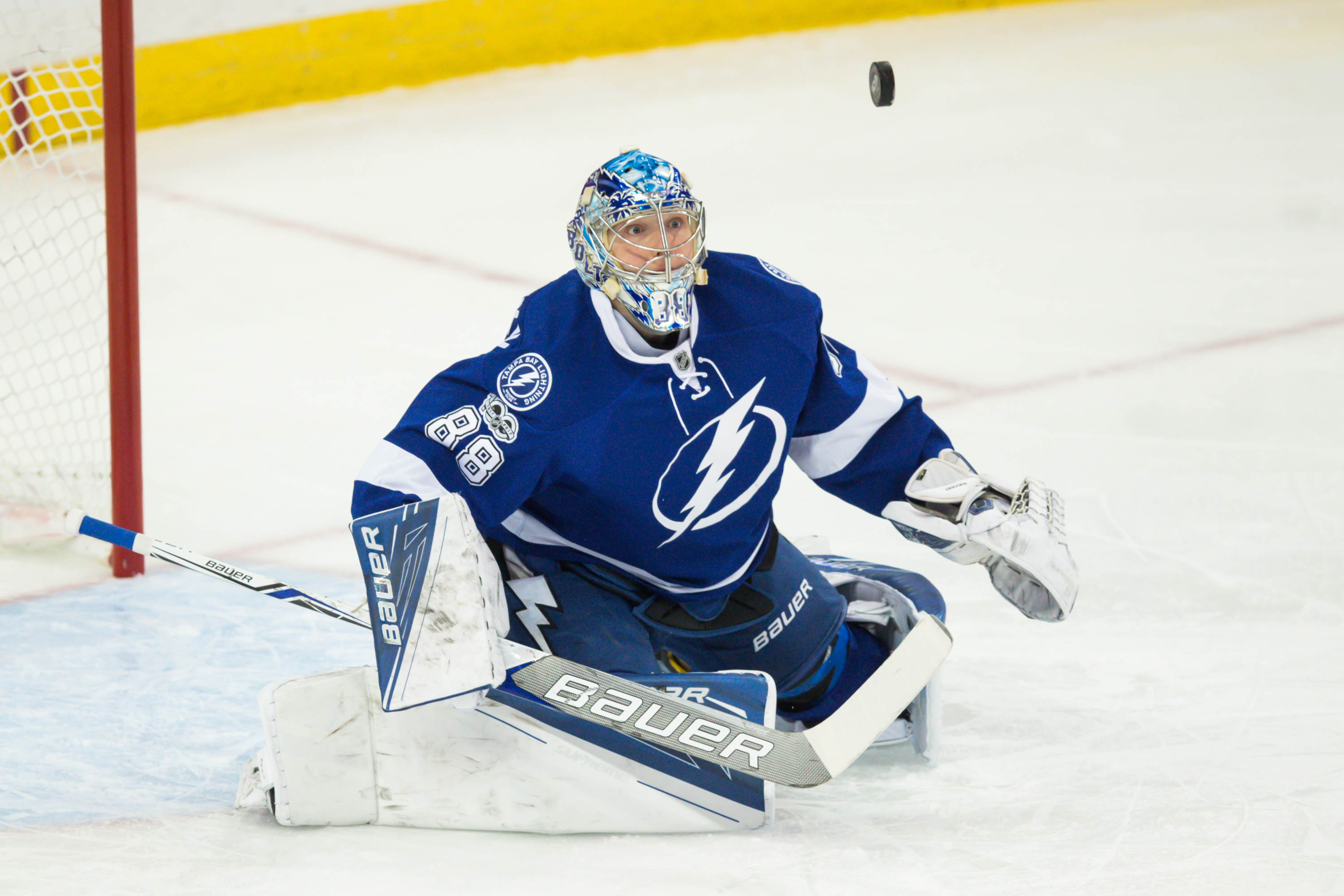 Vasilevskiy is 3-0-1 in his last four games./TRAVIS PENDERGRASS